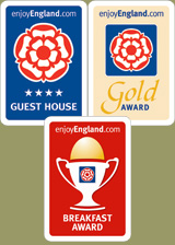 Enjoy England 4 Star Guest House Silver Award